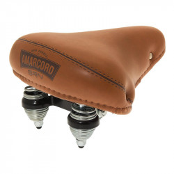 PIGNA AMARCORD CLASSIC BICYCLE SADDLE WITH SPRING SUSPENSION IN HONEY BROWN COLOR