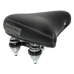 PIGNA AMARCORD CLASSIC BICYCLE SADDLE WITH SPRING SUSPENSION IN BLACK COLOR