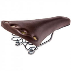 RETRO SPORT BICYCLE SADDLE BROWN WITH SPRINGS SUSPENSION