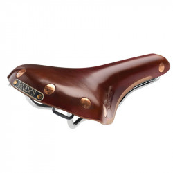 BROOKS SWIFT GENUINE LEATHER BICYCLE SADDLE IN BROWN COLOR