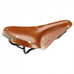 BROOKS B17 MAN GENUINE LEATHER BICYCLE SADDLE IN HONEY BROWN COLOR