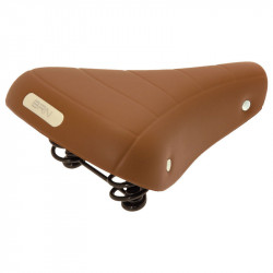 RONDINE CLASSIC BICYCLE SADDLE HONEY BROWN WITH SPRINGS AND GEL INSERTS