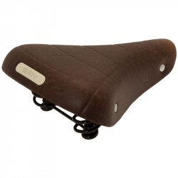 RONDINE CLASSIC BICYCLE SADDLE BROWN WITH SPRINGS AND GEL INSERTS