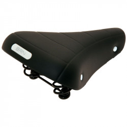 RONDINE CLASSIC BICYCLE SADDLE BLACK WITH SPRINGS AND GEL INSERTS