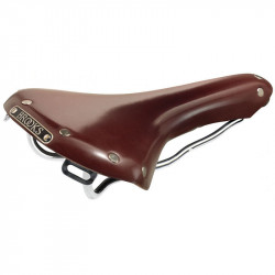 BROOKS B15 SWALLOW GENUINE LEATHER BICYCLE SADDLE IN BROWN COLOR