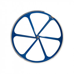 Front Bicycle Wheel Aluminium Fixed 6 spokes BLUE
