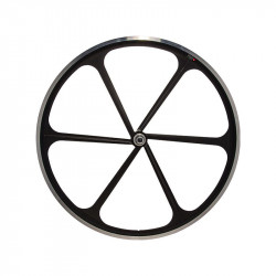 Front Bicycle Wheel Aluminium Fixed 6 spokes BLACK