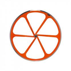 Front Bicycle Wheel Aluminium Fixed 6 spokes ORANGE