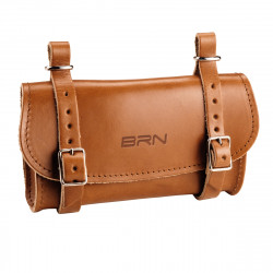 Real Leather Bicycle Saddle Bag Purse Honey Brown