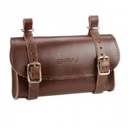 Real Leather Saddle Bag Purse BROWN