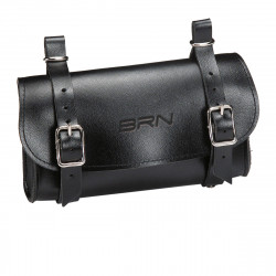 Leatherete Bicycle Saddle Bag Purse BLACK Artificial Leather