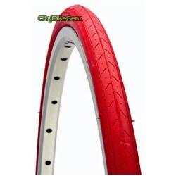 Fahrradreifen 28 Zoll rot 700x23C ( 23 - 622 ) für Rennrad und Fixed Gear
