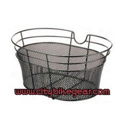 Schwarzer Fahrradkorb Metallic mit Draht