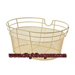 Creme - Ivory White Bicycle Basket Metallic with wire