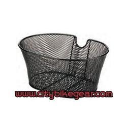 Bicycle Black Metallic Wire Basket