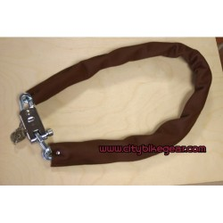 BICYCLE SECURITY LOCK SQUARE LINKS GENUINE LEATHER COVER