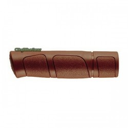 CLASSIC RUBBER BICYCLE GRIPS FOR CITY AND TREKKING BICYCLES BROWN COLOR