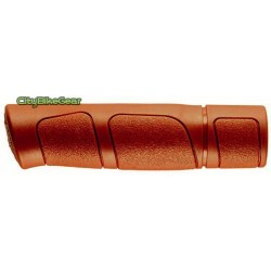 CLASSIC RUBBER BICYCLE GRIPS FOR CITY AND TREKKING BICYCLES HONEY BROWN COLOR