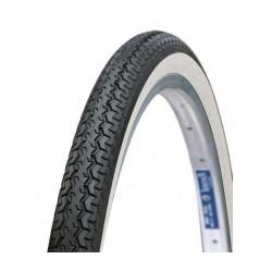2 Χ Fahrradreifen 26x 1-3/8 schwarz-weiß für City- und Trekkingbike