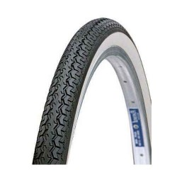 "CLASSIC BICYCLE TYRES 26"" X 1-1/2 BLACK - WHITE WALL"