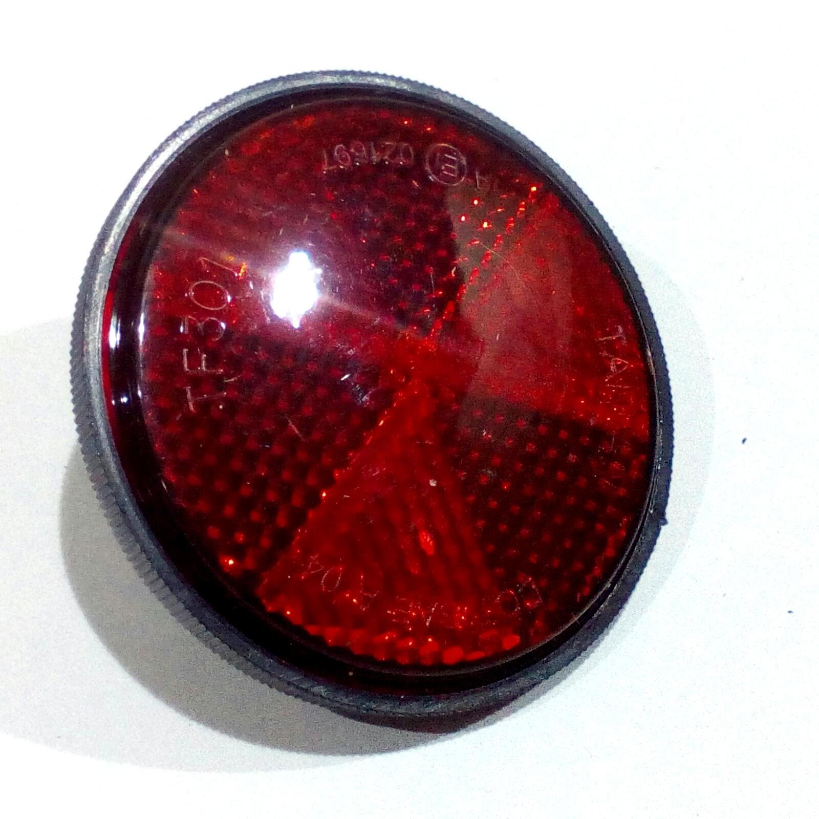 1x Fahrrad Reflektor schraube ROT RÜCKSTRAHLER SCHUTZBLECH 60MM Durchmesser
