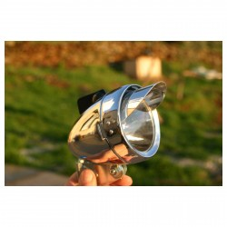 VINTAGE BULLET BICYCLE FRONT LIGHT 1 SUPERLED SHADE
