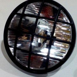 Front Dynamo Light with mesh Cafe Racer style