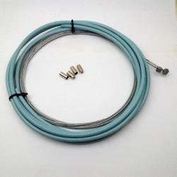 Bremskabelset Hellblaues Bremszugset mit inneren und äußeren Fahrradleitungen mit geringer Reibung