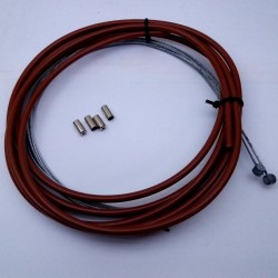 BROWN Colored Brake Cable Set of Inner and Outer Bicycle Cables