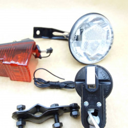 Dynamo Light Attachments combo Front Rear Light Dynamo Germany Made