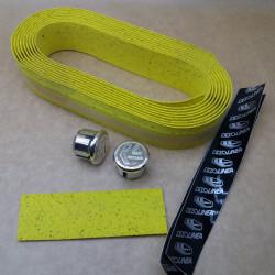 Oxford Yellow Bicycle Handlebar Cork Tape EVA Set CicloLinea
