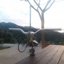 Flat Riser Sport Straight Alloy Bicycle Handlebars 25.4 stem 22.2 bar