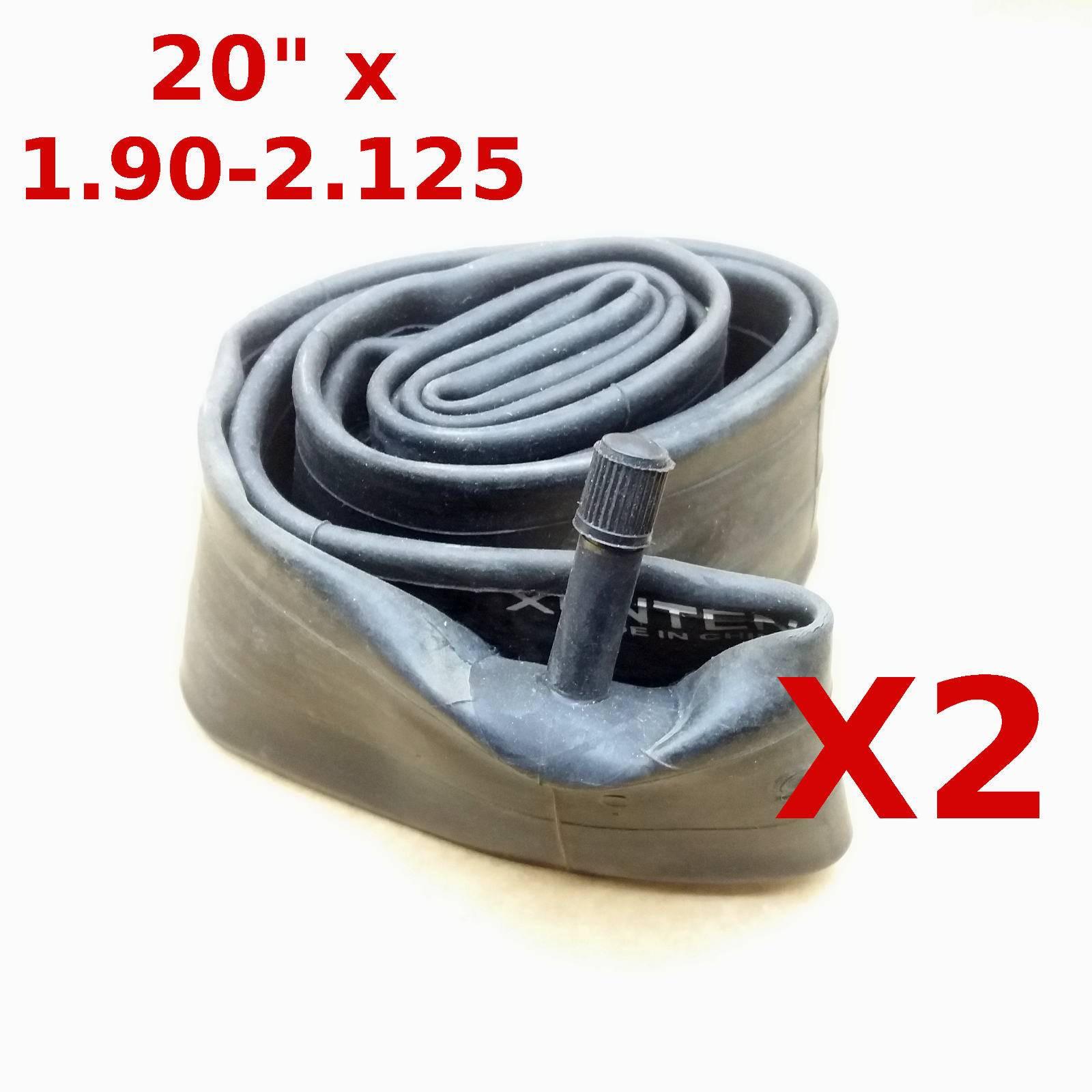 "2 X BICYCLE TUBES 20"" X 1.90 -2.125 SCHRADER VALVE"