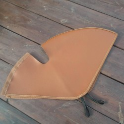 Bicycle Skirt - Dress - Coat Guard - Protector Fabric Brown Leather
