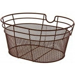 Brown Bicycle Basket Metallic with wire