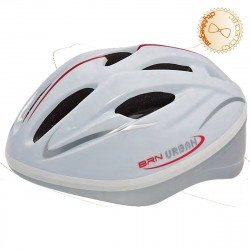Bicycle Helmet White Light and Ventilated