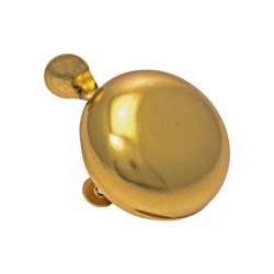 RETRO Bicycle Bell 60mm Gold made of steel ding dong