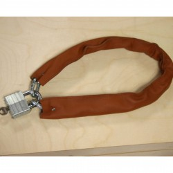 BICYCLE LOCK WITH GENUINE REAL LEATHER COVER