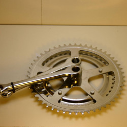 NOS Fahrradkurbel 42 - 52 Zähne Keil verchromt Stahl