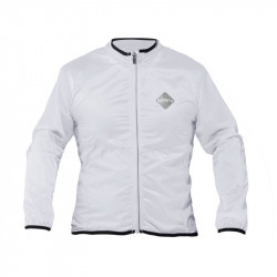 WINDPROOF LONG SLEEVE CYCLING JACKET WHITE COLOR SIZE S