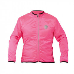 WINDPROOF LONG SLEEVE CYCLING JACKET FLUO FUXIA S