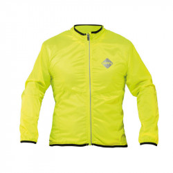 WINDPROOF LONG SLEEVE CYCLING JACKET IN FLUO YELLOW L