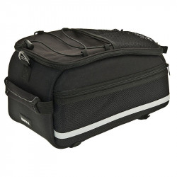 BRN TOWN FABRIC TOP CASE BLACK FOR REAR BICYCLE CARRIER