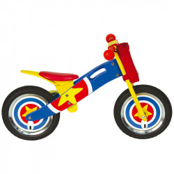 CAPTAIN AMERICA WOODEN BALANCE BIKE