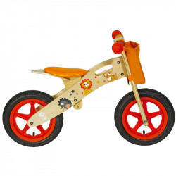 ORANGE ANIMALS WOODEN BALANCE BIKE