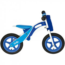 RACING WOODEN BALANCE BIKE BLUE