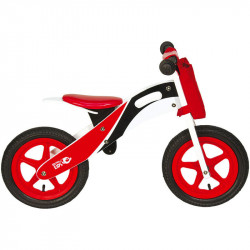 RACING WOODEN BALANCE BIKE RED