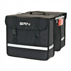 Double Bicycle Panniers made of Cordura Color Black 25 Lt