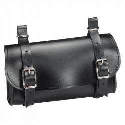 ECO-LEATHER SADDLE BAG BLACK