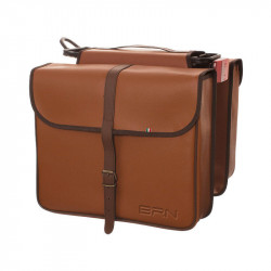 ZURIGO LEATHERETTE DOUBLE BAG BICYCLE REAR PANNIERS IN COLOUR HONEY BROWN